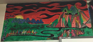 The Hobbit, 1979, crappy paint on cinderblock, Holly Lisle