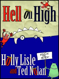 The nearly-final HELL ON HIGH cover