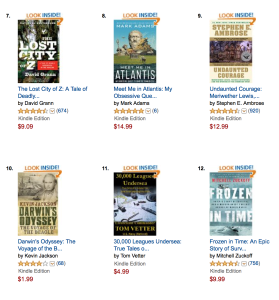 Tom Vetter at #11 on Amazon, in Expeditions and Discoveries World History