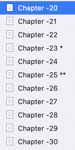 Still to go chapters remaining