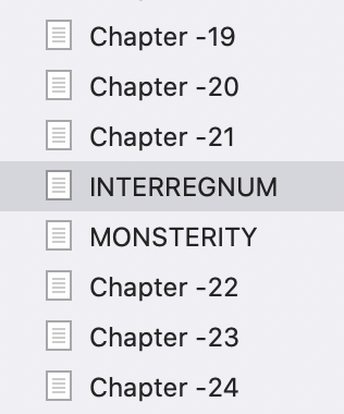 Tired of renumbering chapters