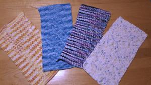 Sideways-Thinking Washcloths
